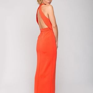 Nicholas Bandage Insert Maxi dress gown open back